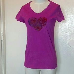 NWOT Bella Canvas Pink Vneck Short Sleeve T Shirt